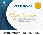 certificate template with... | Shutterstock .eps vector #1036028437