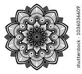 mandala. decorative round... | Shutterstock .eps vector #1036036609