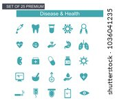 diesease and health icons set... | Shutterstock .eps vector #1036041235