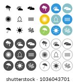 weather overcast icons set  ... | Shutterstock .eps vector #1036043701
