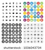 shipping icons set   delivery... | Shutterstock .eps vector #1036043734