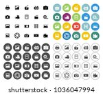 camera icons set | Shutterstock .eps vector #1036047994