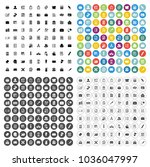 vector business office icons... | Shutterstock .eps vector #1036047997