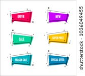 abstract store offer banners. ... | Shutterstock .eps vector #1036049455