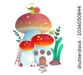 vector illustration mushroom... | Shutterstock .eps vector #1036050844