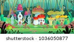background for games and mobile ... | Shutterstock .eps vector #1036050877