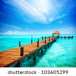 paradise. vacations and tourism ... | Shutterstock . vector #103605299