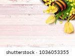 black and orange ribbon of st...   Shutterstock .eps vector #1036053355
