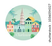 welcome to charlestone poster... | Shutterstock .eps vector #1036054327