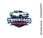 truck car vector logo template... | Shutterstock .eps vector #1036056997