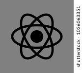 atom sign. vector. black icon... | Shutterstock .eps vector #1036063351
