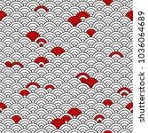 geometric seamless pattern on... | Shutterstock .eps vector #1036064689