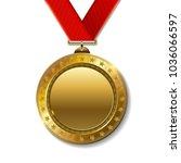 realistic 3d gold trophy... | Shutterstock . vector #1036066597