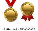 set of realistic 3d champion... | Shutterstock . vector #1036066609