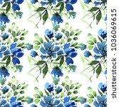 watercolor floral seamless... | Shutterstock . vector #1036069615