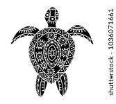 tortoise ornate for your design   Shutterstock .eps vector #1036071661