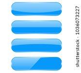 blue glass buttons. vector 3d... | Shutterstock .eps vector #1036073227