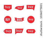 buy sign and sticker  sale tag  ... | Shutterstock .eps vector #1036075831