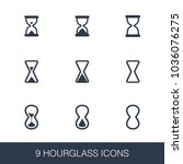 hourglass icons set. simple...