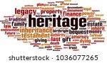 heritage word cloud concept.... | Shutterstock .eps vector #1036077265