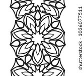 seamless border for coloring... | Shutterstock .eps vector #1036077511
