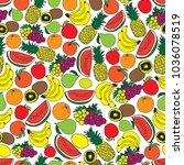 seamless fruit pattern | Shutterstock .eps vector #1036078519