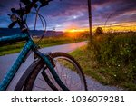 bike wheels close up image on... | Shutterstock . vector #1036079281