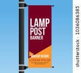 single lamp post banner... | Shutterstock .eps vector #1036086385