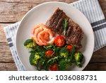 delicious grilled beef steak... | Shutterstock . vector #1036088731