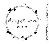 feminine logo frame  wreath... | Shutterstock .eps vector #1036088779