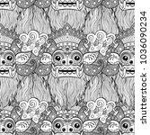 barong. traditional ritual... | Shutterstock .eps vector #1036090234