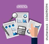 hand with business analyst... | Shutterstock .eps vector #1036090594