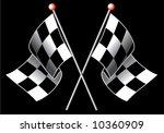 checkered flag | Shutterstock .eps vector #10360909
