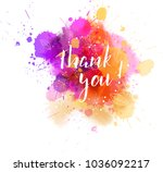 thank you hand lettering phrase ... | Shutterstock .eps vector #1036092217