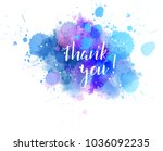 thank you hand lettering phrase ... | Shutterstock .eps vector #1036092235