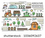 vector set of icons ... | Shutterstock .eps vector #1036092637