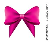 glowing pink bow ribbon...   Shutterstock .eps vector #1036094044