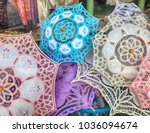 traditional handmade lace... | Shutterstock . vector #1036094674