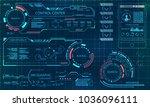 futuristic user interface.... | Shutterstock .eps vector #1036096111