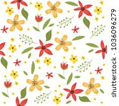 floral seamless pattern with... | Shutterstock .eps vector #1036096279