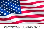vector image of usa flag... | Shutterstock .eps vector #1036097614