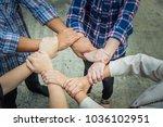 team work concept. business... | Shutterstock . vector #1036102951