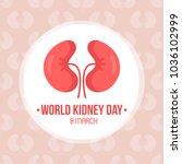 World Kidney Day Card  Vector...