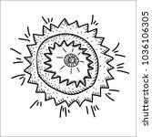 vector illustration on a theme... | Shutterstock .eps vector #1036106305