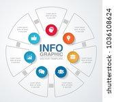 vector infographic template for ... | Shutterstock .eps vector #1036108624