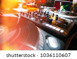 club dj party background... | Shutterstock . vector #1036110607
