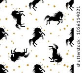 vector seamless pattern with... | Shutterstock .eps vector #1036114021