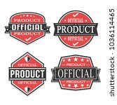 official product quality seal... | Shutterstock .eps vector #1036114465