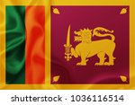 flag of sri lanka waving... | Shutterstock . vector #1036116514