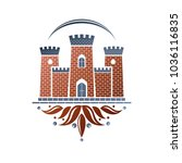 medieval fortress decorative... | Shutterstock .eps vector #1036116835